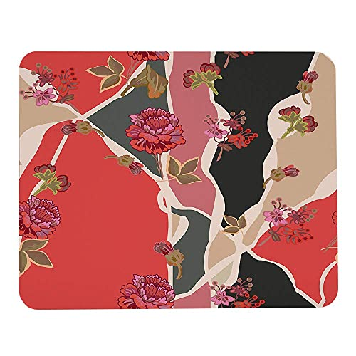 Flowers mouse pad arabesque abstract pattern with vintage floral black red gaming mousepad rectangle mouse pads for computers laptop