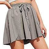 Culottes Cortos De Verano Casual La De Modernas Floja Cintura De La Gasa De Mujer Pone En Cortocircuito Los Pantalones Cortos Caliente Pantalones De Verano con Hebilla De Cinturón