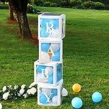 VINFUTUR 4Stk Baby Ballonbox Transparente Luftballon-Box Babyparty Baby Shower Hochzeit...