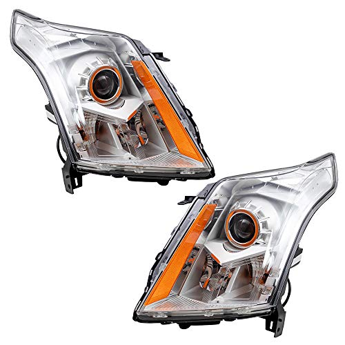Replacement Driver and Passenger Set Halogen Headlights Headlights Compatible with 2010-2013 SRX