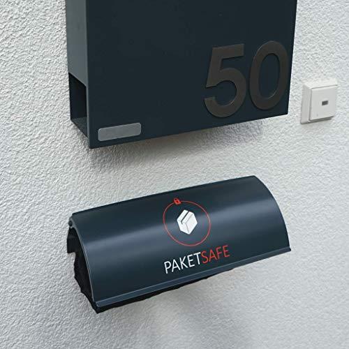 PAKETSAFE – platzsparender Paketsack mit hochwertiger Edestahloptik, anthrazit - 2