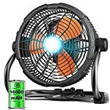 """Best Battery Powered Fans - Rovtop 12"""" High Velocity Floor Fan, Rechargeable Outdoor Review"""