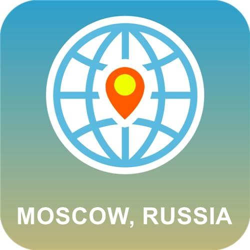 Moscú, Rusia Mapa Desconectado