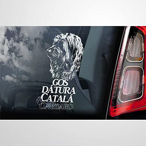 Gos D'Atura Català a bordo calcomanía de coche, vinilo auto calcomanía, decoración para ventana, parachoques, ordenador portátil, paredes, ordenador, vaso, taza, teléfono, camión, accesorios de coche