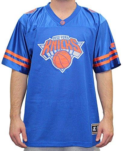 Starter New York Knicks NBA Men's Blindside Football Jersey