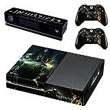 Injustice 2 Xbox One Skin Sticker Vinyl Aufkleber Schutzfolie zum Konsole & 2 Controller NEU