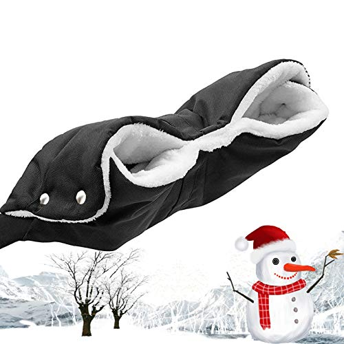 Kinderwagen Handwärmer, Frostschutz Kinderwagen Handschuhe, Winddicht Kinderwagen Handschuhe, für Kinderwagen Buggy Kinderwagenmuff, Muff mit Fleece Innenseite, Wasser- und windabweisend