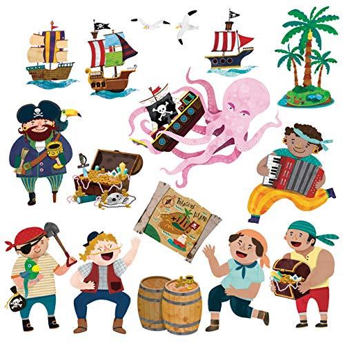 Pegatina decorativa de piratas para niños.