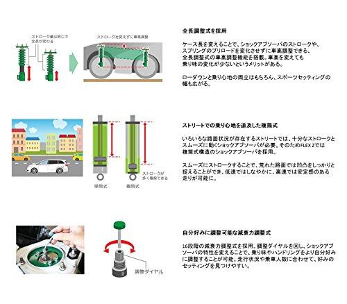 TEIN(テイン)車高調【FLEXZ】トヨタプリウスZVW30VSQ08-C1AS3