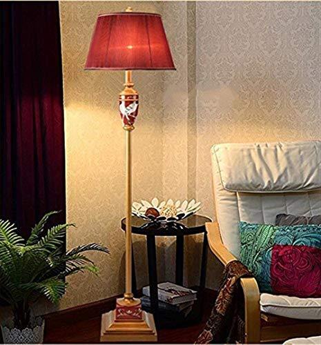 DJY-JY De pie luminarias Chinas Piso Luminoso Rojo se Enciende for la Sala Retro sólido del Bulbo de la lámpara de Madera clásicos leña incluida