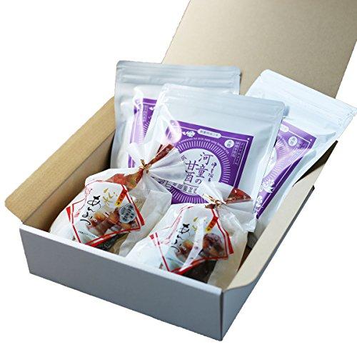 伊豆河童 箱入り 糀甘酒 3袋 あんみつ 2個 セット ノンアルコール・砂糖不使用の甘酒 ギフト 向け