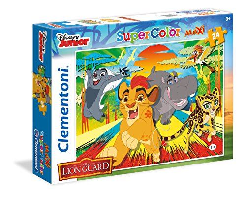 Clementoni- Forum Romanum-Roma Lion Guard Supercolor Puzzle, Multicolore, 24 Pezzi, 24056