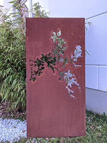 Zen Man Edelrost Tuin ondoorzichtige wand van metaal roest tuin privacy muur tuindecoratie 1mm B50 * H120cm