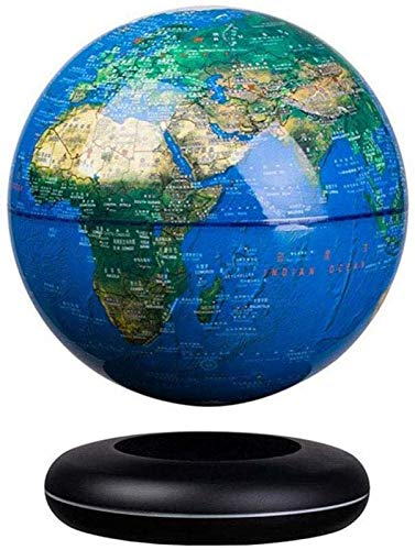 Magnetic Levitation Floating Globe 8'' Self-Rotating Ball Anti Gravity World Map Earth