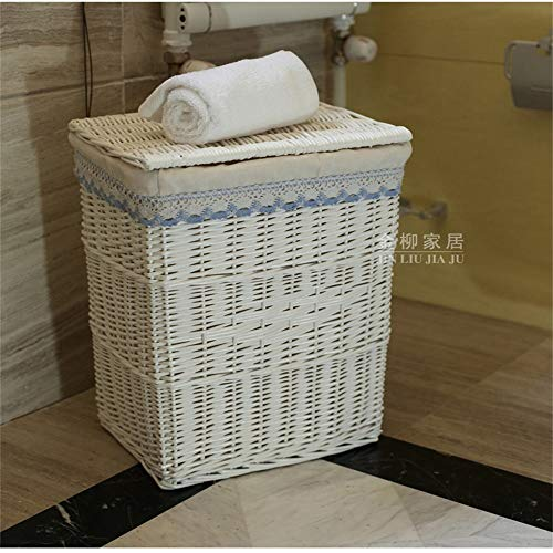 Storage Basket Home Storage Bins Baskets Handmade Wicker Storage Baskets,Decorative Organizing Baskets for Living room with Lids for Home Office Closet Toys Clothes