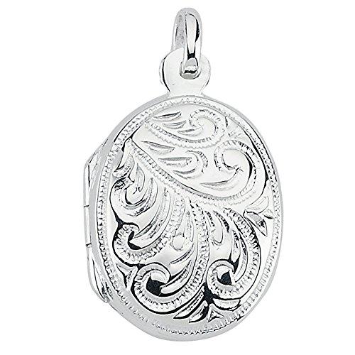 Vinani Anhänger Indien Design Medaillon mit Verzierungen zum Öffnen glänzend Sterling Silber 925 2AMI-EZ