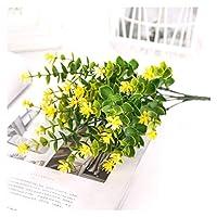造花 1ピース緑のプラスチック草の植物造花の結婚式のホームクリスマスの装飾 (Color : 12)