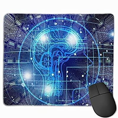 SDwosibao Cute Gaming Mouse Pad,Desk Mousepad,Small Mouse Pads for Laptop Computers,Mouse Mat Artificial Intelligence Brain Think Pattern