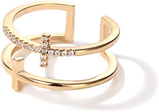 50414d38a275e Amazon.com: dainty diamond rings - Golds / Rings / Jewelry: Clothing ...