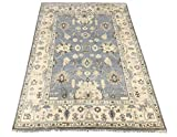 6X9 Oushak Hand-Knotted Wool Area Rug Oriental Carpet (6.2 x 8.9)