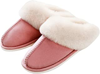 pink fluffy slippers uk