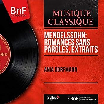 Mendelssohn: Romances sans paroles, extraits (Mono Version)