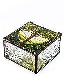 YTC Tiffany Tree of Life Glass Jewelry Trinket Box