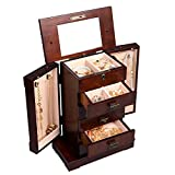 MEE TONG SHOP Armoire Jewelry Cabinet Box Storage Chest Stand Organizer Durable Wood New