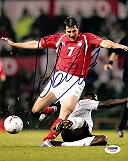 Radoslaw Sobolewski Autographed Photograph - 8x10 Wisla Krakow #U58408 - PSA/DNA Certified - Autographed Soccer Photos