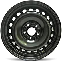 Road Ready Car Wheel For 2012-2014 Ford Focus 16 Inch 5 Lug Black Steel Rim Fits R16 Tire - Exact OEM Replacement - Full-Size