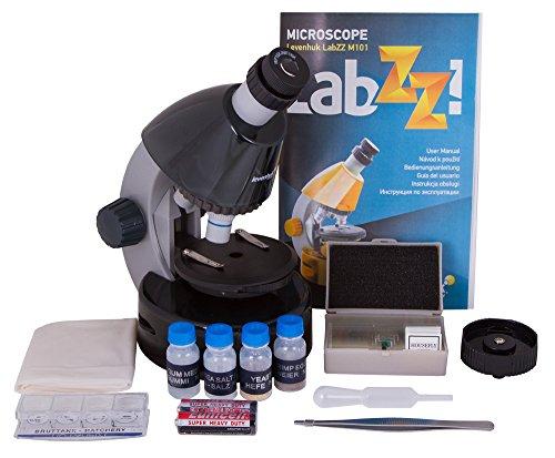 Levenhuk Microscopio per Ragazzi LabZZ M101, Color Pietra Lunare, con Kit per Esperimenti – Scegli Il Tuo Colore Preferito