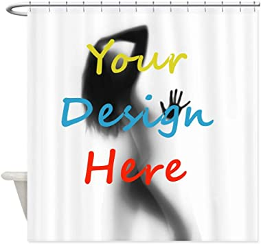 HYN Shower Curtain Customized Photo or Text (40x72 inch)