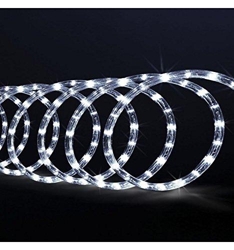 Guirlande Tube lumineux 6 mètres Ampoules LED Blanches et 8 jeux de lumière