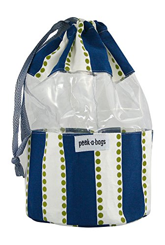 Toy Storage Bag for Organization & Storage for Kids with Unique Colorful Drawstring Toy Bag. PEEK-A-BAGS for a Cute Gift Bag, Baby Shower, Baby Toys, Legos, Blocks, Books, Diaper Bag and Stroller.