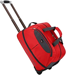 Waterproof Suitcase Bag Thick Style Kids Rolling Luggage Trolley Case Women&Men Travel Bags Carry On with Wheels (Color : Red, Size : Small)