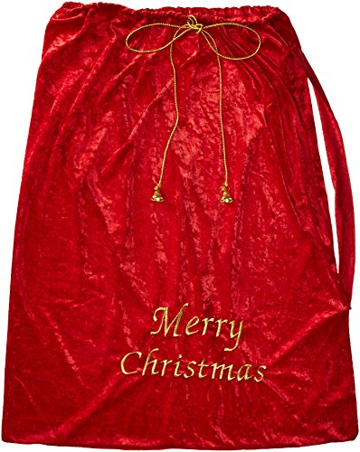 Fun World mens Costumes Santa Sack Costume Accessory, Multi, Standard US