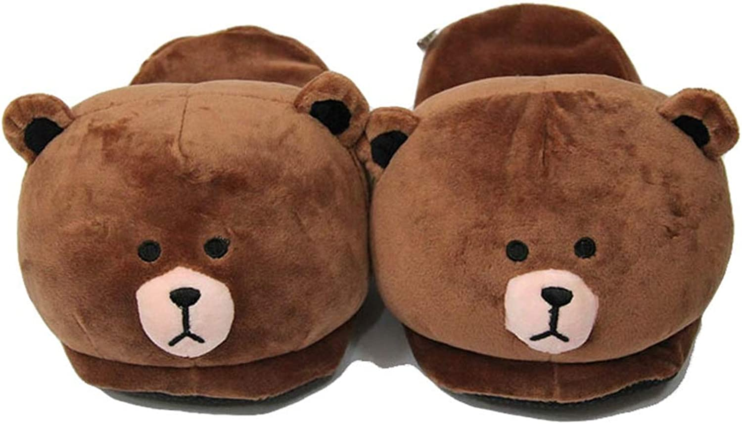 York Zhu Cute Home Slippers - Teddy Bear Fur Lined Indoor House Slipper for Girls