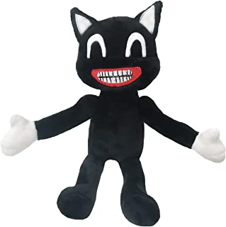 Plush Cartoon Black Cat, 12 Inch Animal Doll Black Cartoon Cat, Plush Black Cat Toy Designed for Boys and Girls Plush Lovers