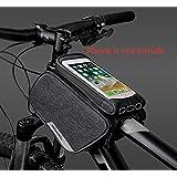 ROSWHEELタッチスクリーンフレーム電話バッグ携帯電話ホルダー付きサイクリングトップチューブパニア