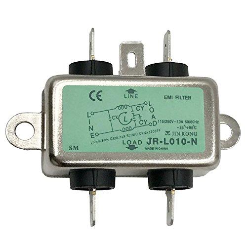 Single Phase AC Power Line EMI Filter AC 115//250V 50//60Hz 10A Suppressor