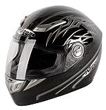 Nitro Aikido Full Face Helmet (Black/Gunmetal/White, Small)