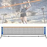 Jilijia - Mini rete da tennis regolabile pieghevole da 3 a 6 metri, mini tennis e badminton Combi da pallavolo per bambini, portatile, da giardino, per allenamento partita (senza ripiano), 3 m.