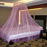 Neruti Enterprise Polyester Adults Double Bed (Round-Canopy) Mosquito Net (Pink)