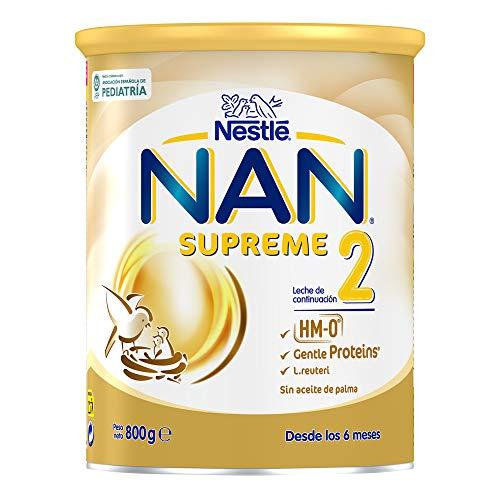 Nan Supreme 2 Leche de Continuación en Polvo Premium Fórmula para Bebé A Partir de Los 6 Meses, 800g