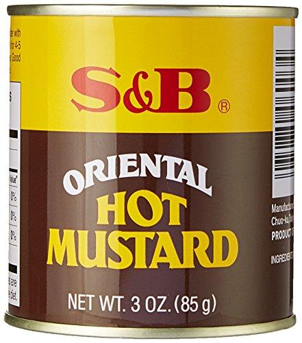 S&B Oriental Hot Mustard Powder, 3-Ounce