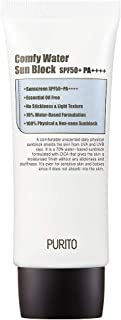 [UNSCENTED] PURITO Comfy Water Sun Block SPF50+ PA++++ 60ml/ 2 fl.oz EWG All Green Ingredients, 100% physical sunscreen, UVA1,2 UVB, Broad spectrum,Lightweight,Essential Oil Free
