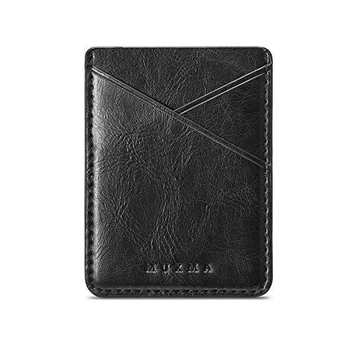 Arlgseln Handy-Kartenhalter, multifunktional, ultradünn, selbstklebend, für Ausweis/Kreditkarten, Brieftasche, zum Aufkleben auf iPhone/Samsung Galaxy/Smartphone/Tablet (schwarz)