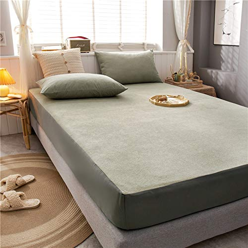 haiba Premium Textiles Exclusive - Sábana bajera ajustable (120 x 200 + 30 cm), color gris