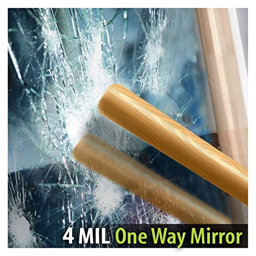 BDF S4MS15 Window Film Security and One Way Mirror Silver 4 Mil (30in X 50ft)