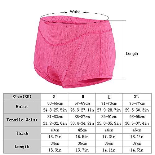 Lixada Damen Unterhose Radsport Underwear Pants Gel 3D gepolsterte Bike Fahrrad - 3